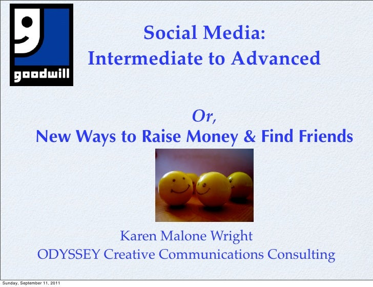 Social Media:                             Intermediate to Advanced                                Or,              New Way...