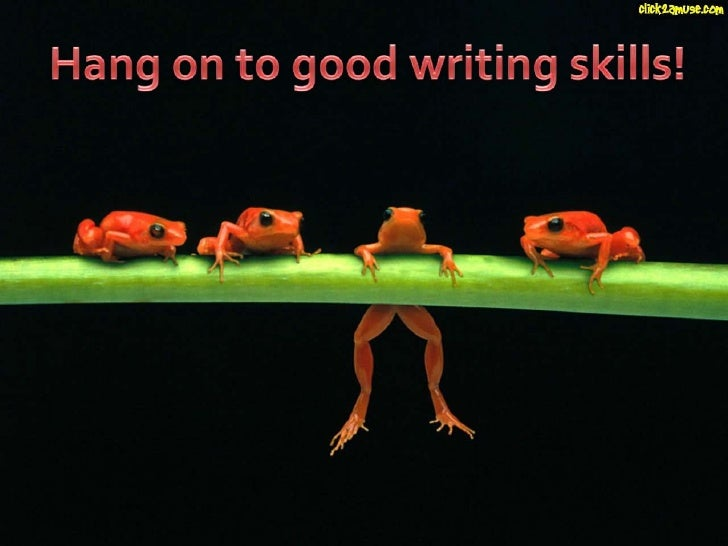 Good Writing - Frog Powerpoint