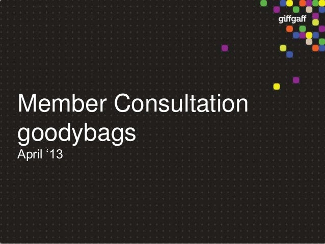 giffgaff Goodybag community consultation