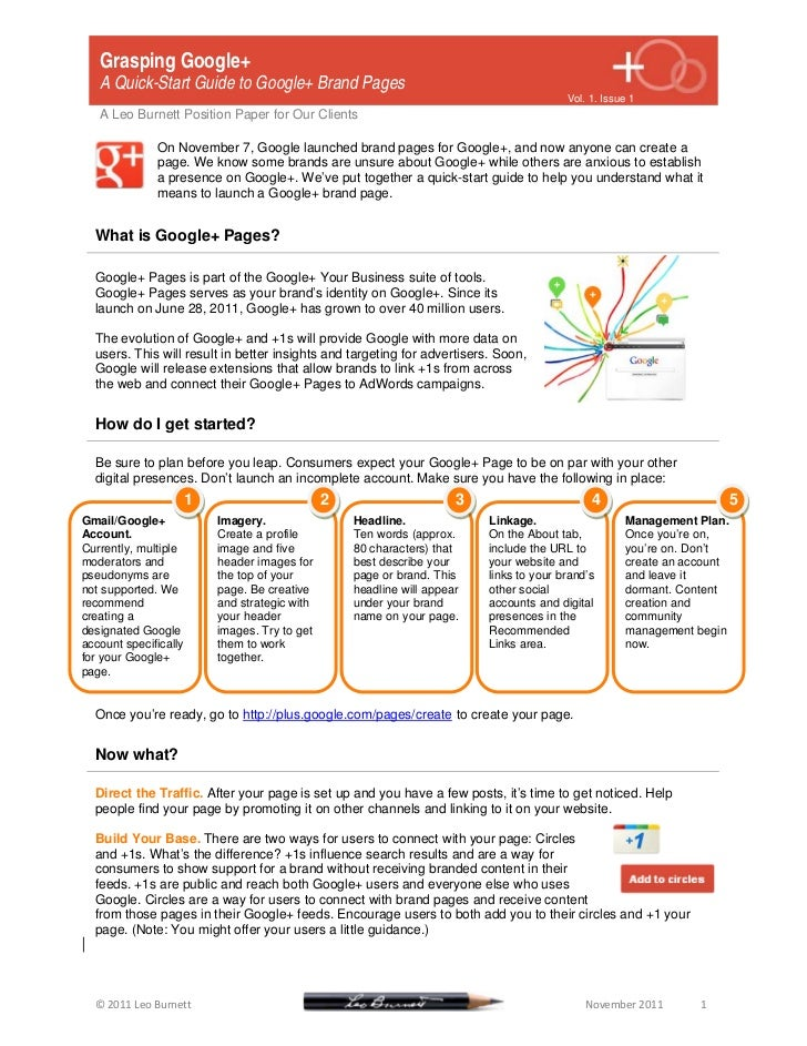 Grasping Google+: A Quickstart Guide to Google+ Brand Pages