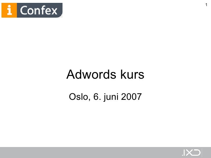 Google Adwords kurs