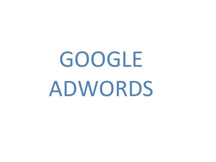 Google Adwords 1- Mòdul 2 Eines col·laboratives iMàrqueting