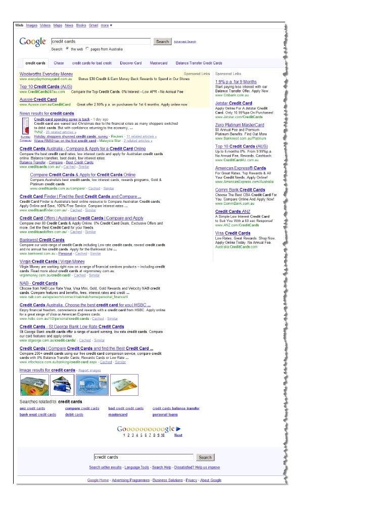 Google Algorithm Update Test 30.11.09