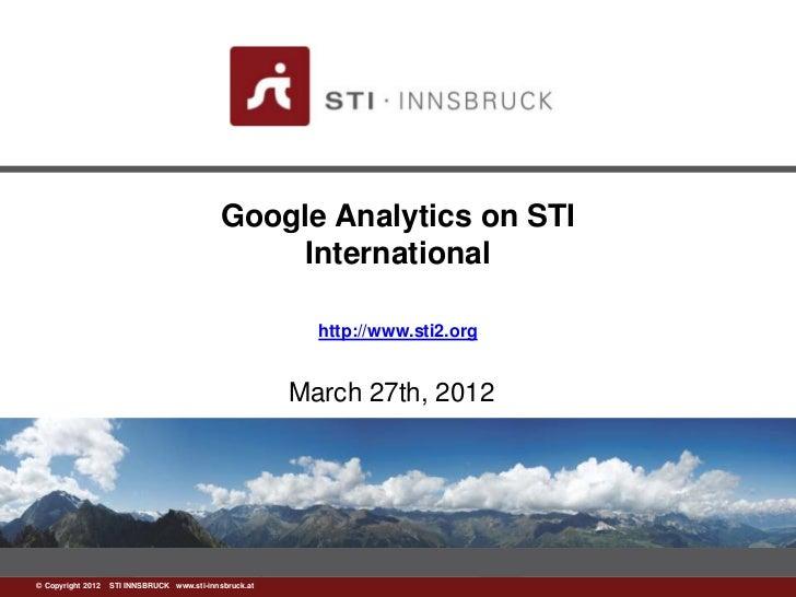 Google Analytics on STI                                                International                                      ...