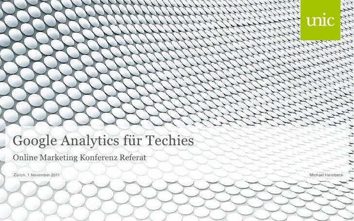 Google Analytics Präsentation am Internet Briefing