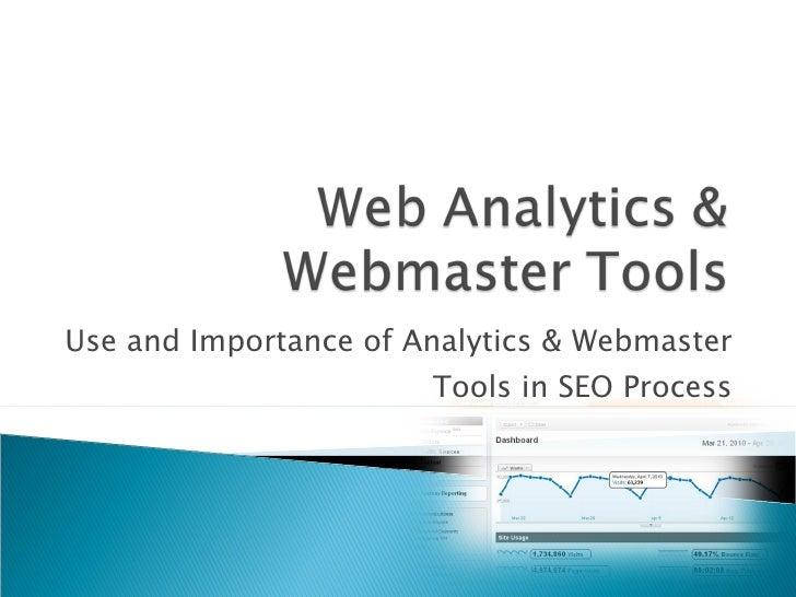 Google analytics and webmaster tools