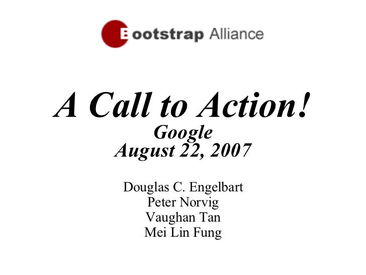 Bootstrap Alliance Google Call to Action