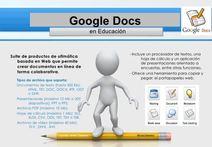 Google Docs-Drive en Educación - Herramienta de colaboración abierta y sincrónica: en tiempo real