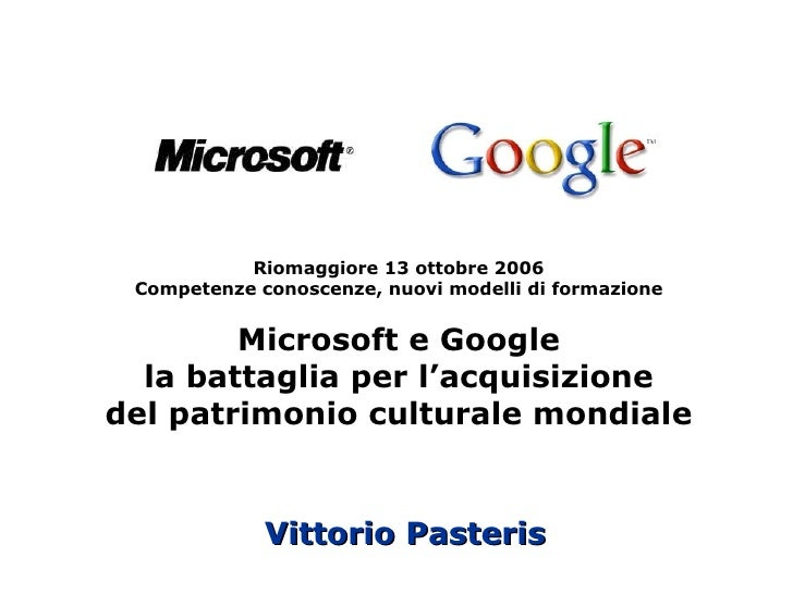 Google e Microsoft