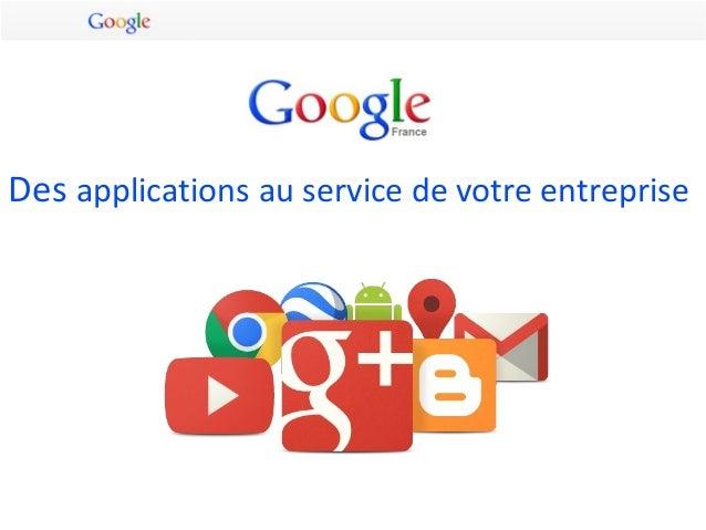 Google : des applications au service des entreprises