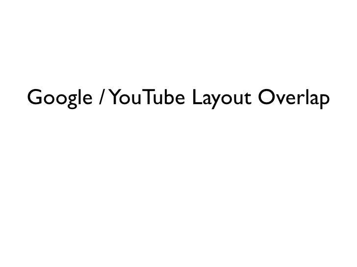 Google / YouTube Layout Overlap