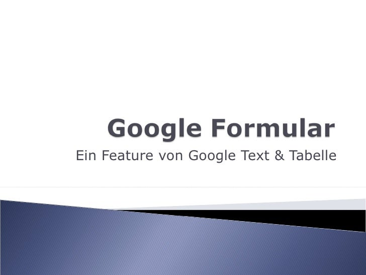 Ein Feature von Google Text & Tabelle