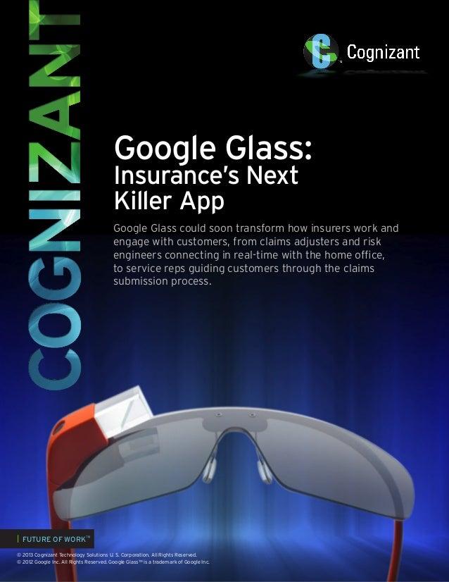 Google Glass: Insurance's Next Killer App
