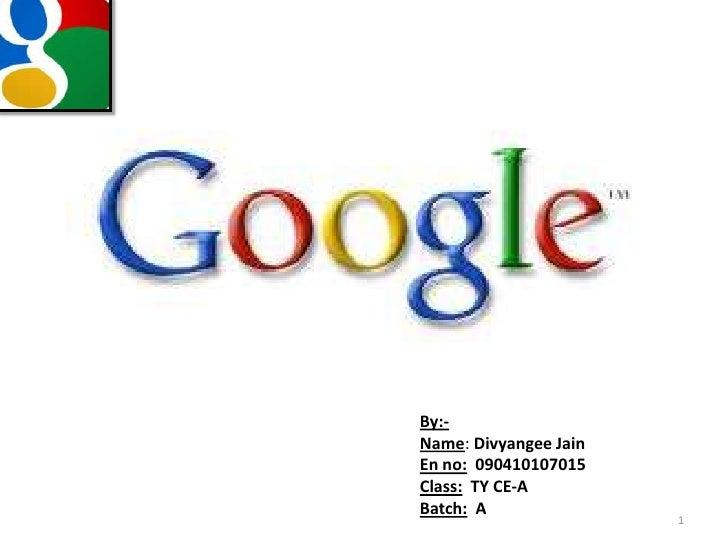 Google history nd architecture