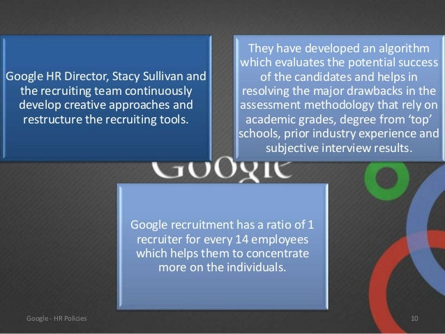google hr policies and practices Google vp operations, liane hornsey talks to meettheboss about hr best practice and how to succesfully hire staff whilst maintaining high levels of personnel.