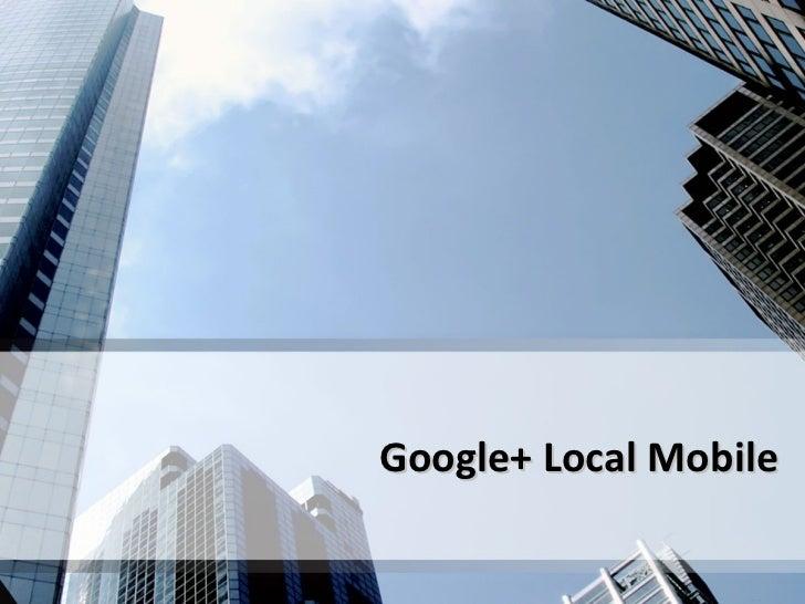 Google Local Mobile Social Media Class