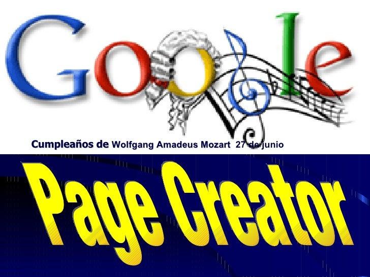 Google page creators