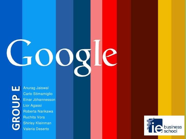 Google - Past, Present and Future