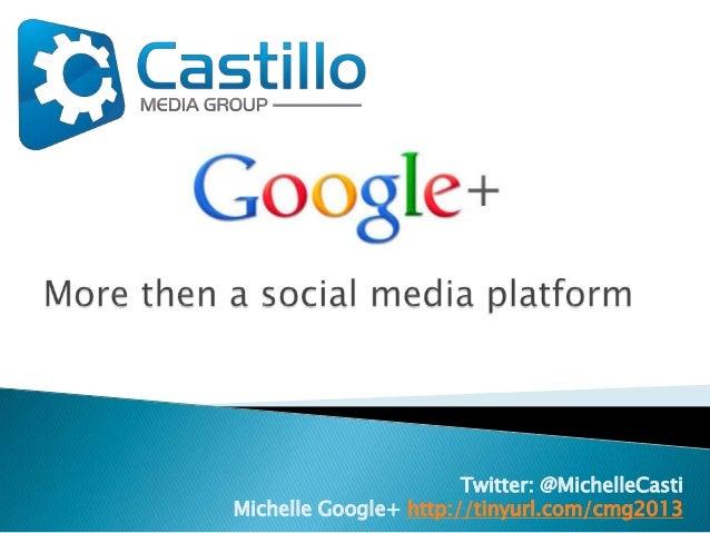 Google plus, more then a social media platform