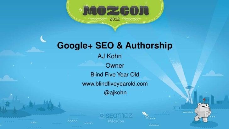 Google Plus SEO and Authorship