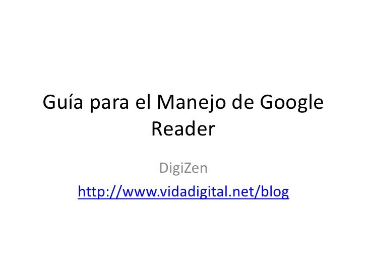 Guía para Google Reader