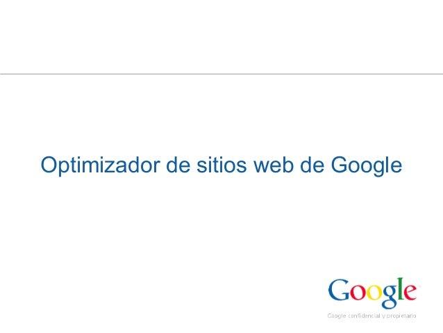 Optimizador de sitios web de Google