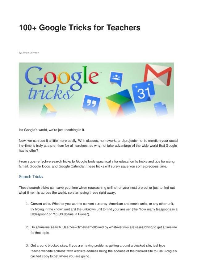 Google 100tricks