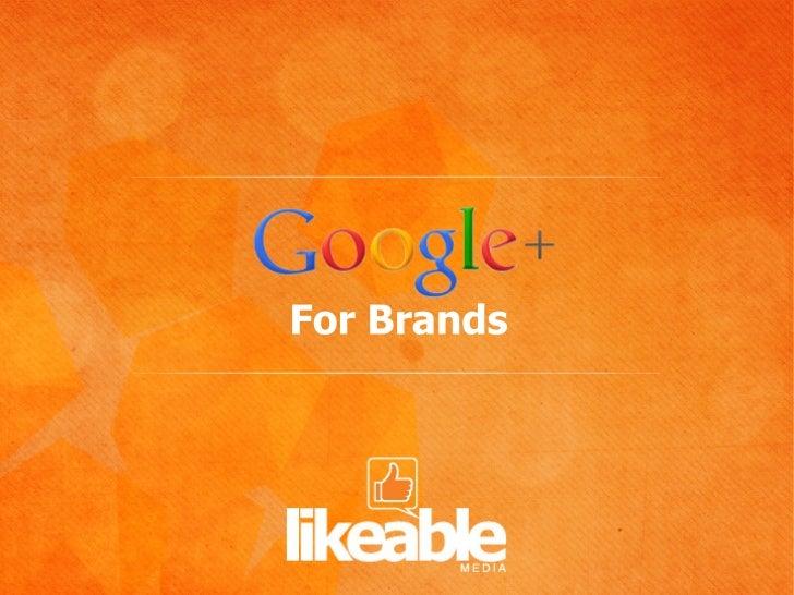 Google+ for Brands