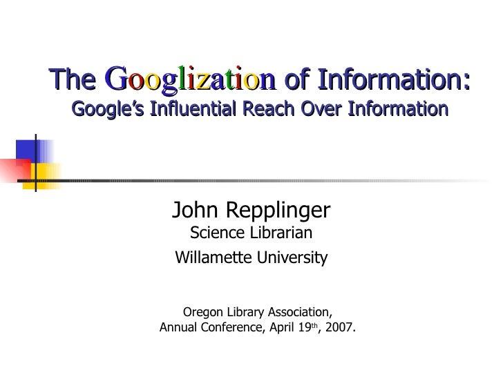googlization of information