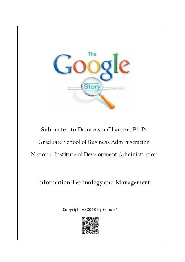 Submitted to Danuvasin Charoen, Ph.D.  Graduate School of Business AdministrationNational Institute of Development Adminis...