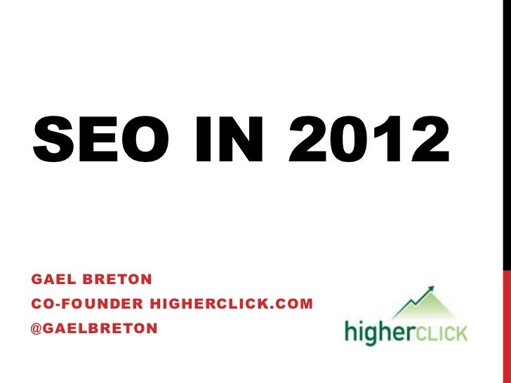 Google updates 2011-2012