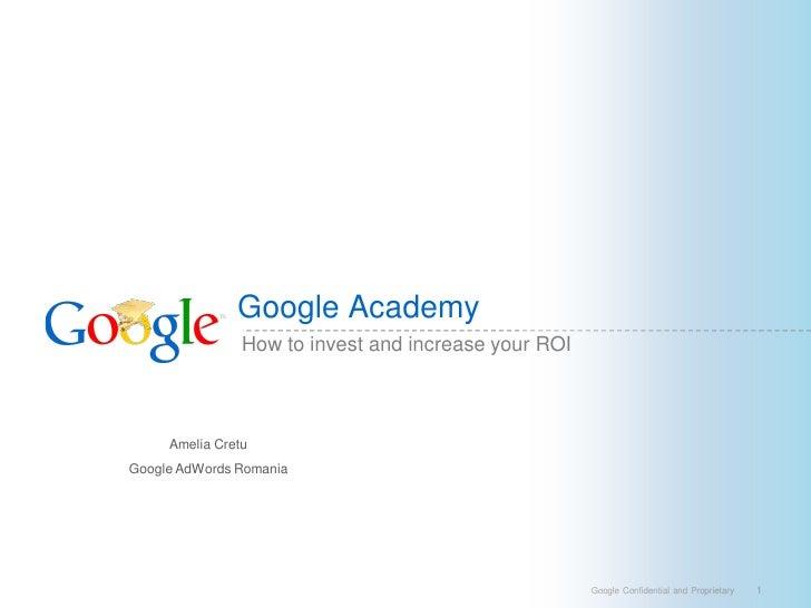Google Academy 2009 Adwords Master Class