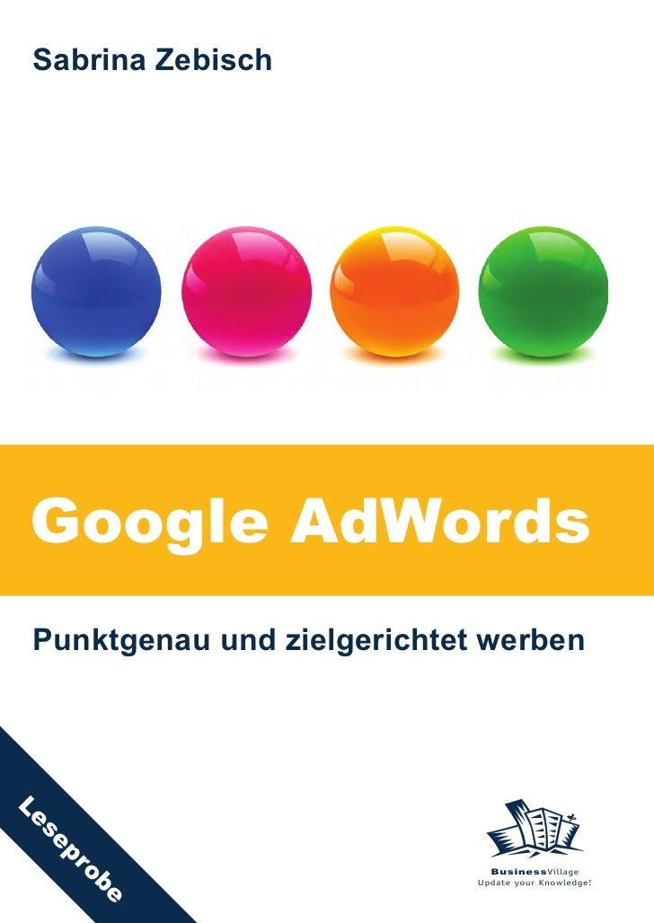 Sabrina Zebisch     Google AdWords  Punktgenau und zielgerichtet werben Le  se     pro                                    ...