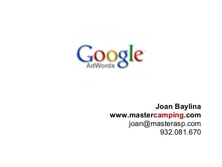Google Adwords. Oportunidad para campings
