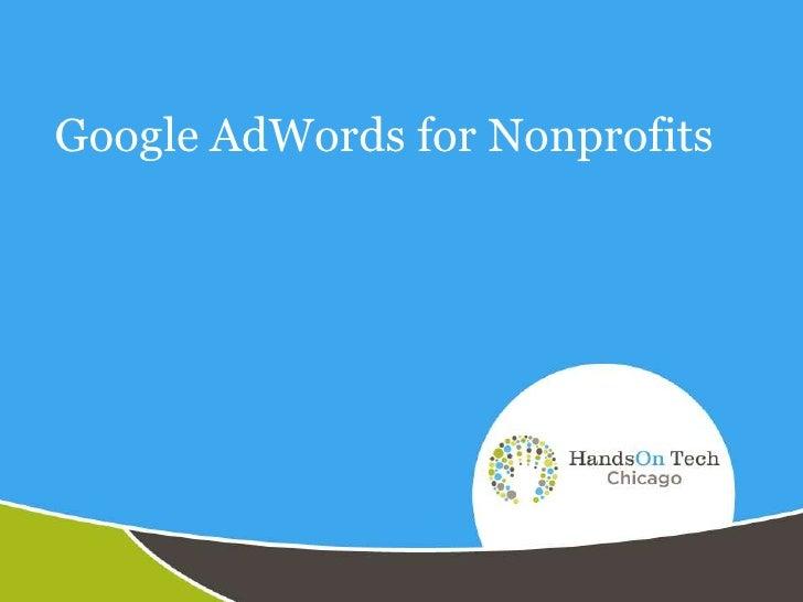 Google AdWords for Nonprofits