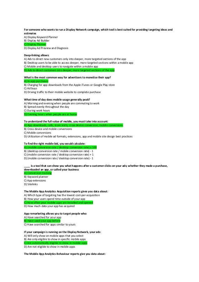 how to pass google adwords exam