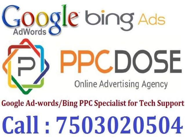google adwords ppc specialist for tech support 7503020504