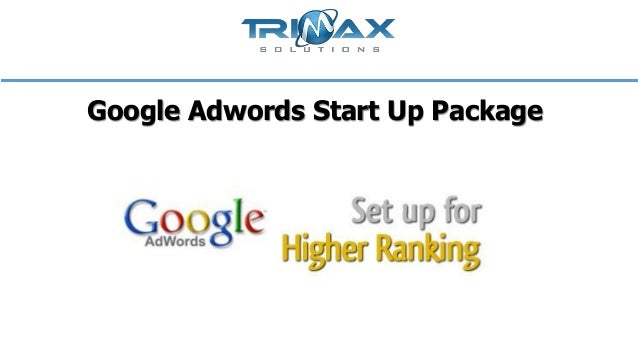 Google adwords start up package