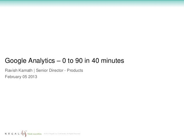 Google analytics   0 to 90 in 40 minutes