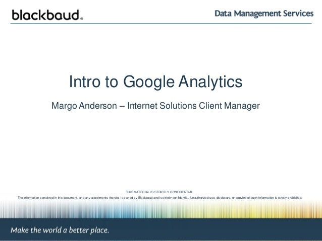 Higher Ed Boot Camp: Google Analytics for NetCommunity