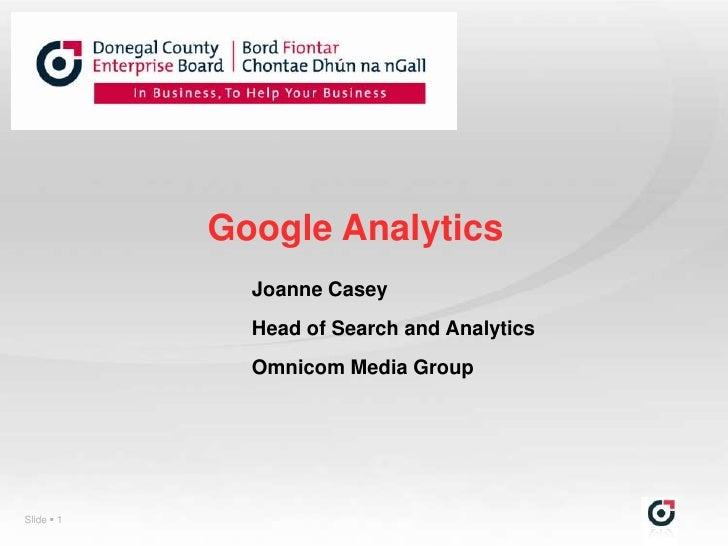 Google analytics 2011_joanne-casey