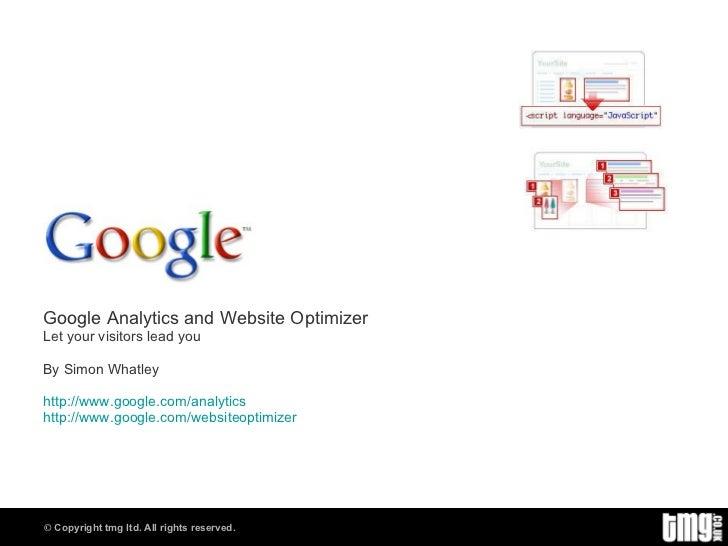 Google analytics and website optimizer