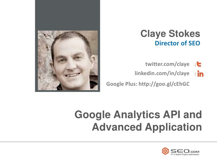Google Analytics API and Advanced Application
