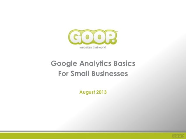 Google analytics basics for small business