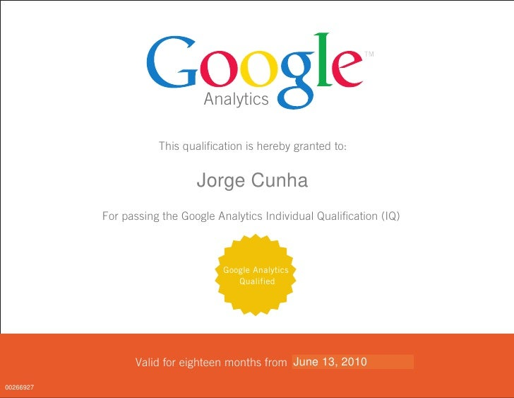 Analytics                        This qualification is hereby granted to:                 <FIRST_NAME>Cunha               ...