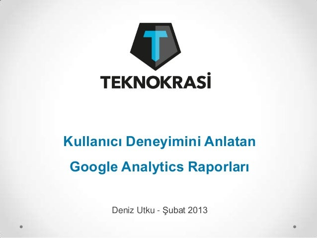 UX Analytics Deniz Utku