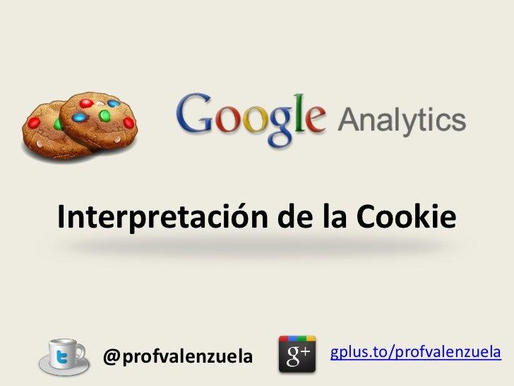 Interpretación de la Cookie   @profvalenzuela   gplus.to/profvalenzuela
