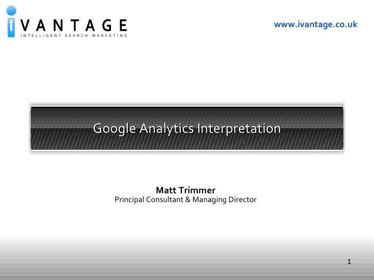 Google Analytics: Introduction & User Training
