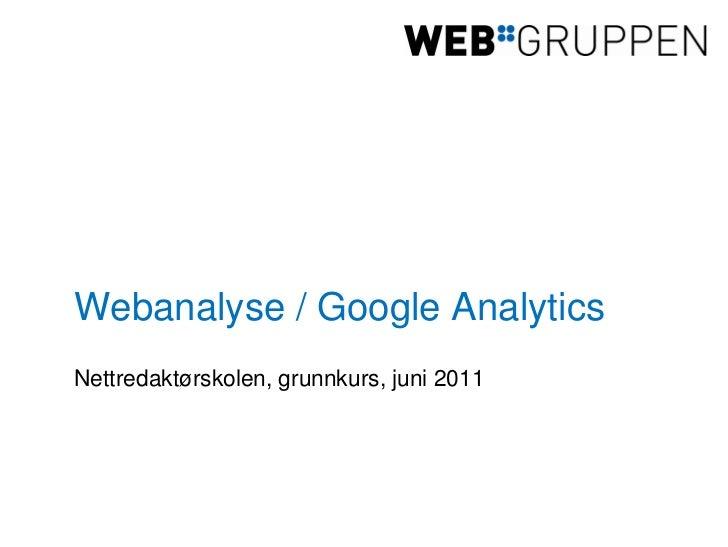 Googleanalytics nettredsk juni11