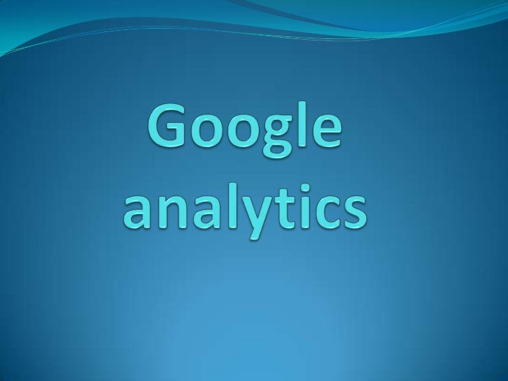 Google analytics<br />